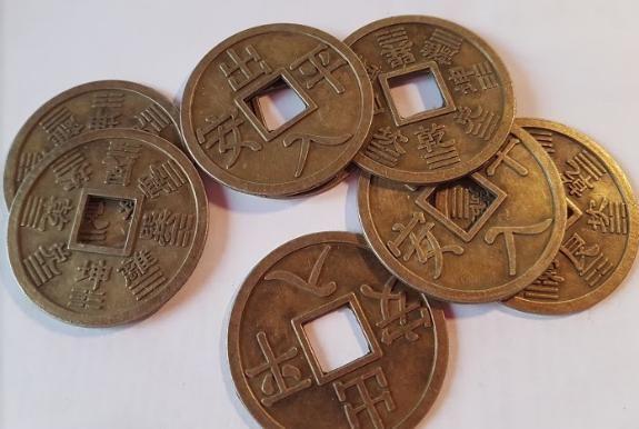 Čínské mince 4 cm 10 kusů