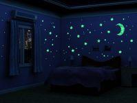 Fluorescent Sticker - Hvězdy