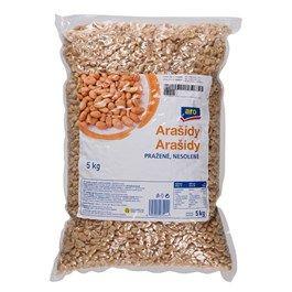 ARO Arašídy pražené nesolené 1x5kg