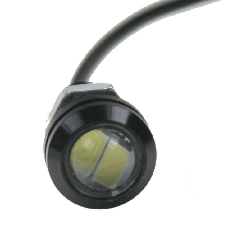 světlo pro denní svícení Led (eagle eye) 18mm, 12V, 3W, bílá