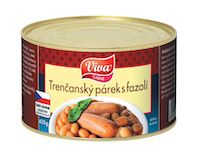 Viva trenčanské párky s fazolí Viva 400g