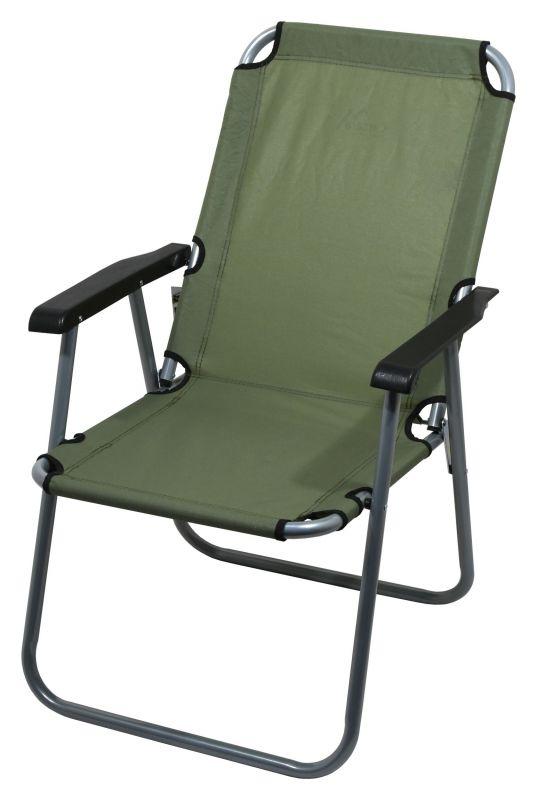 Židle kempingová skládací LYON tmavě zelená
